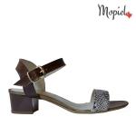 Pantofi dama din piele naturala 23420/albastru sandale dama din piele naturala cu toc Mopiel