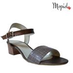 sandale dama din piele naturala cu toc, Mopiel.ro