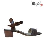 sandale Sandale dama din piele naturala Livia/25634/np/croco/maro sandale dama din piele naturala cu toc interior din piele naturala Mopiel