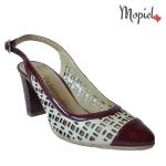 sandale dama din piele naturala cu toc si cu catarama, Mopiel.ro