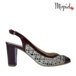 [object object] Sandale dama din piele naturala 063/grena sandale dama din piele naturala cu toc si cu catarama interior din piele naturala Mopiel