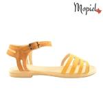 Sandale din piele naturala Oana/25520/maro/galben sandale dama din piele naturala interior din piele naturala Mopiel