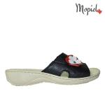papuci Papuci dama din piele naturala 26500/negru/blu/Bombo DSC 7352 150x150