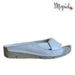 sandale Sandale dama din piele naturala ES/640/alb papuci dama din piee naturala cu latpa groasa Moopiel 1 150x150