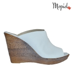 papuci Papuci dama din piele naturala 26702/bej/Daria papuci dama din piele naturala cu platforma Mopiel 1 150x150