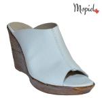 papuci dama din piele naturala cu platforma, Mopiel (2)