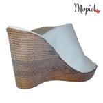 papuci dama din piele naturala cu platforma, Mopiel (3)