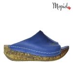 papuci Papuci dama din piele naturala 503/albastru papuci dama din piele naturala cu talpa inalta Mopiel 1 150x150