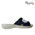 papuci Papuci dama din piele naturala 26500/negru/silver/Bombo papuci dama din piele naturrala cu floare Mopiel 1 150x150