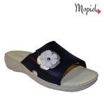 papuci dama din piele naturrala cu floare, Mopiel (2)