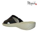 papuci dama din piele naturrala cu floare, Mopiel (3)