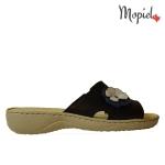 papuci Papuci dama din piele naturala 26500/negru/blu/Bombo papuci dama flexibili Mopiel 1 150x150