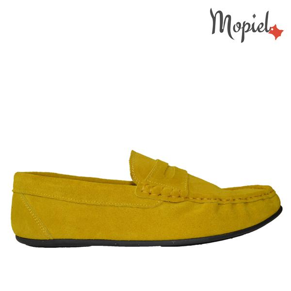 pantofi barbati - mocasini dama din piele naturala intoarsa Mopiel 2 - Pantofi barbati, din piele naturala 371/Negru