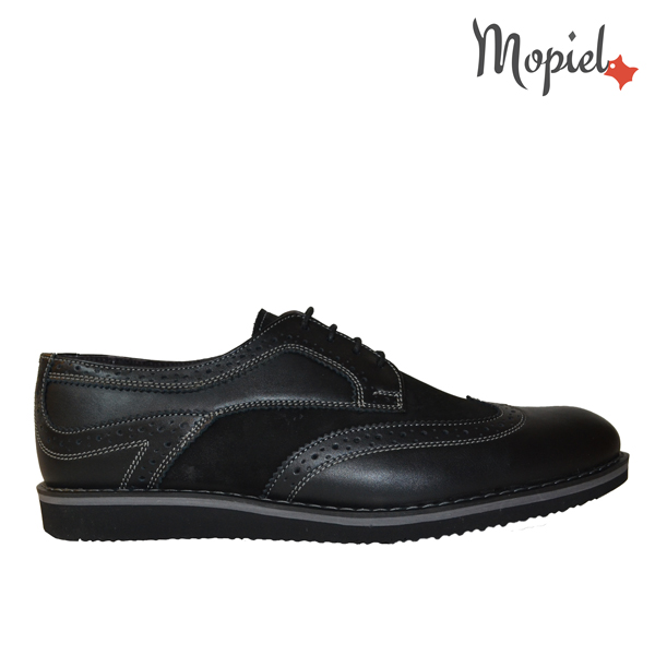 pantofi barbatesti din piele naturala - 1 42 - Pantofi barbatesti din piele naturala 371/negru