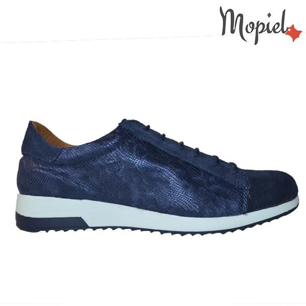 pantofi dama - 3 35 - Pantofi dama din piele naturala 23514/sp/sarpe/bleu/Naty
