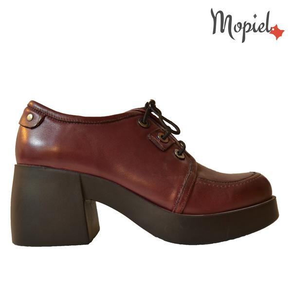 pantofi dama - DSC 7555 - Pantofi dama din piele naturala 650/bordo