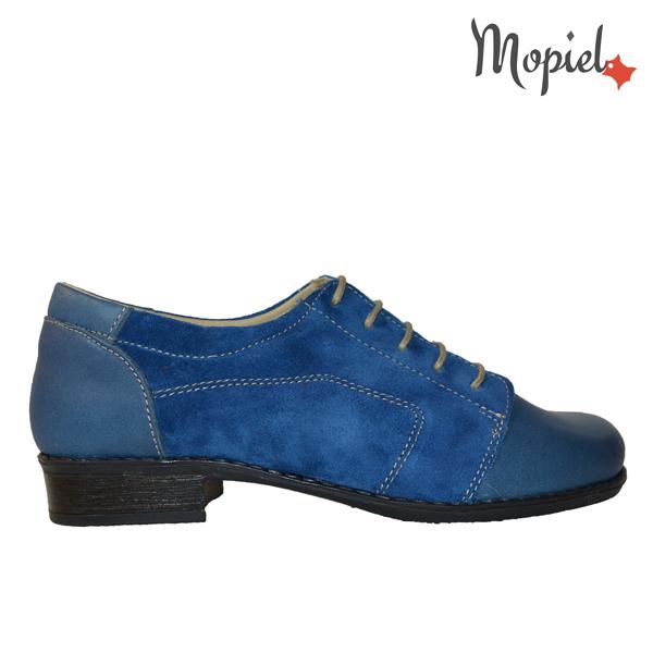 ghete dama - pantofi dama din piele naturala Mopiel 2 1 - Ghete dama din piele naturala 036/negru/albastru