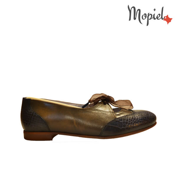 pantofi dama - Pantofi dama din piele naturala cu siret - Pantofi dama din piele naturala 23408/Maro/Miriam
