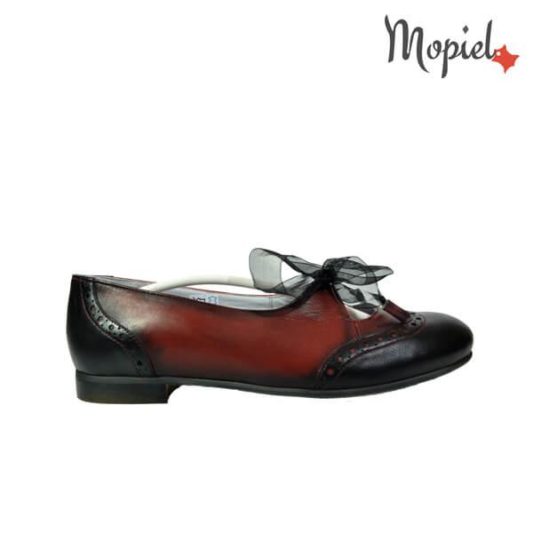 pantofi dama - Pantofi dama din piele naturala cu siret - Pantofi dama din piele naturala 020/cul/negru/rosu