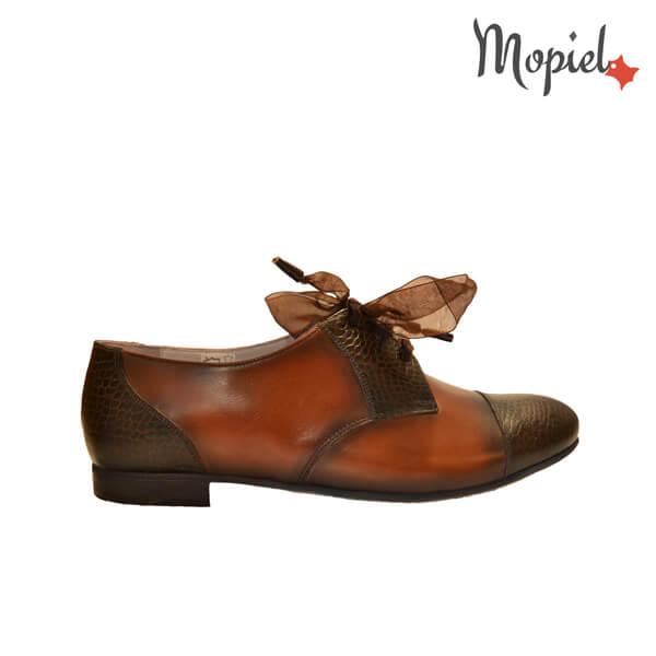 pantofi dama - Pantofi dama din pielle naturala cu siret Mopie - Pantofi dama din piele naturala 030/maro/coniac