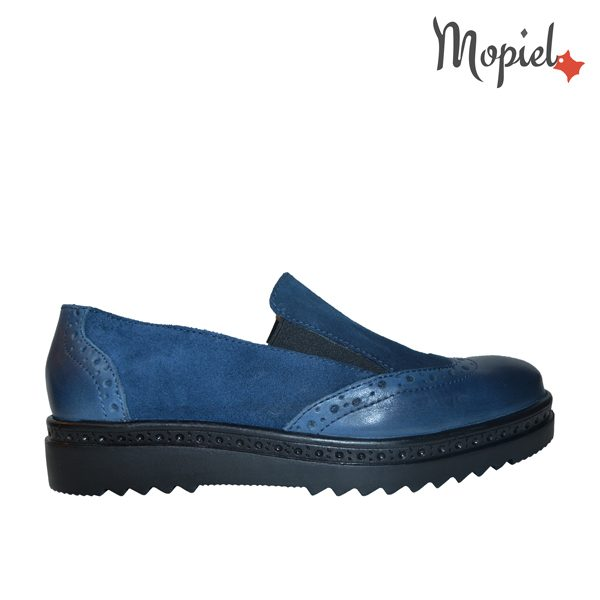 pantofi dama - pantofi dama din piele naturala Mopiel 2 4 600x600 - Pantofi dama din piele naturala 23707/blu/Cezara