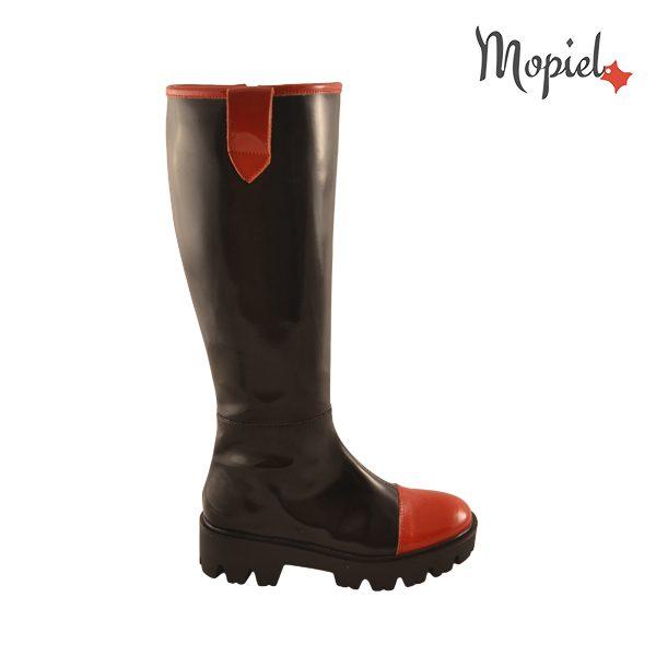 - cizme dama din piele sintetica 22508 negru rosu incaltaminte mopiel - Reduceri cizme din piele naturala