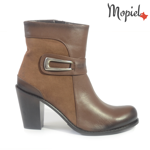 pantofi dama - Ghete dama din piele naturala 217313 316 maro incaltaminte dama incaltaminte mopiel ghete dama - Pantofi dama din piele naturala 23803/negru/road