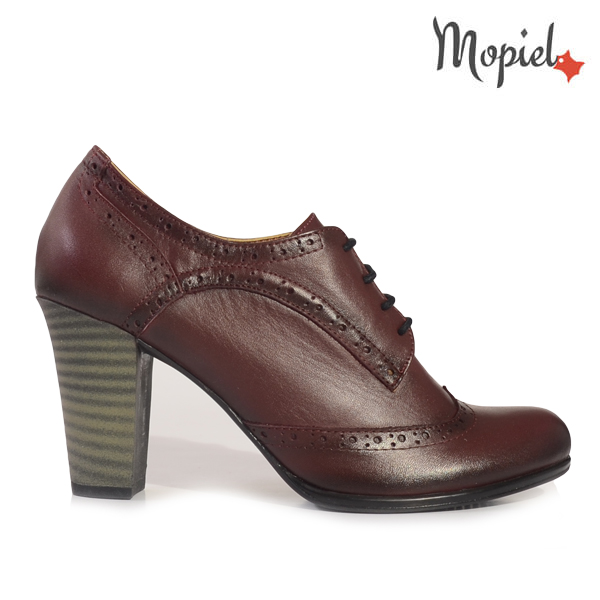 pantofi dama - Pantofi dama din piele naturala 245001 5001 grena incaltaminte dama incaltaminte mopiel ghete dama - Pantofi dama din piele naturala 319/negru/lac