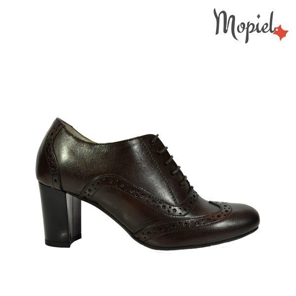 - Pantofi dama din piele naturala cu toc Mopiel - Pantofi dama din piele naturala 23529/maro/Carla