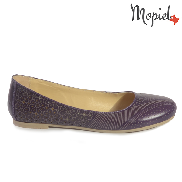 pantofi dama - Balerini dama din piele naturala 23412 14 16 Mov incaltaminte dama incaltaminte mopiel balerini dama - Pantofi dama din piele naturala 23300/spalt-almond