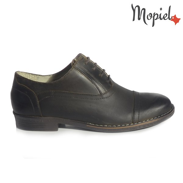 [object object] - Pantofi dama din piele naturala 23408 maro Miriam incaltaminte dama incaltaminte mopiel pantofi dama cu siret - Pantofi dama din piele naturala 020/Moni/blue/maro