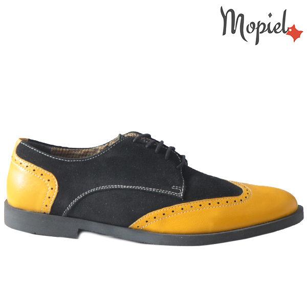 Pantofi barbati din piele naturala 13403 Galben-Negru Ezel