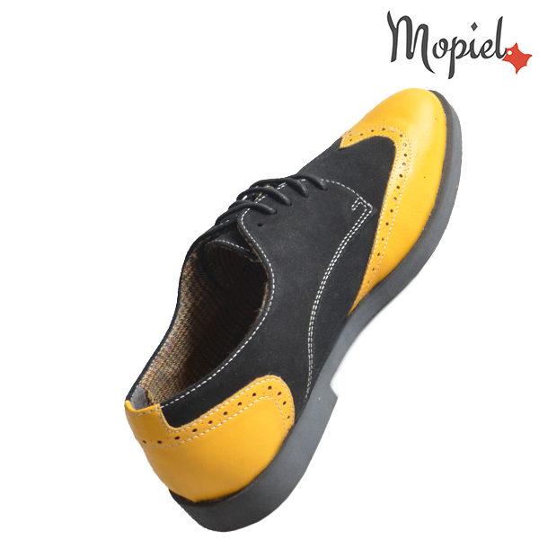 Pantofi barbati din piele naturala 13403 Galben-Negru Ezel incaltaminte online