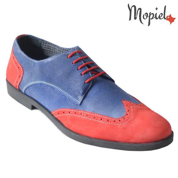 Pantofi barbati din piele naturala 13403 Rosu-Albastru Ezel incaltaminte mopiel