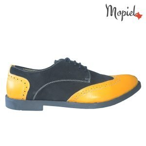 pantofi barbati - Pantofi barbati din piele naturala 13403Galben NegruEzel 300x300 - Pantofi barbati din piele naturala 13403/Galben-Negru/Ezel