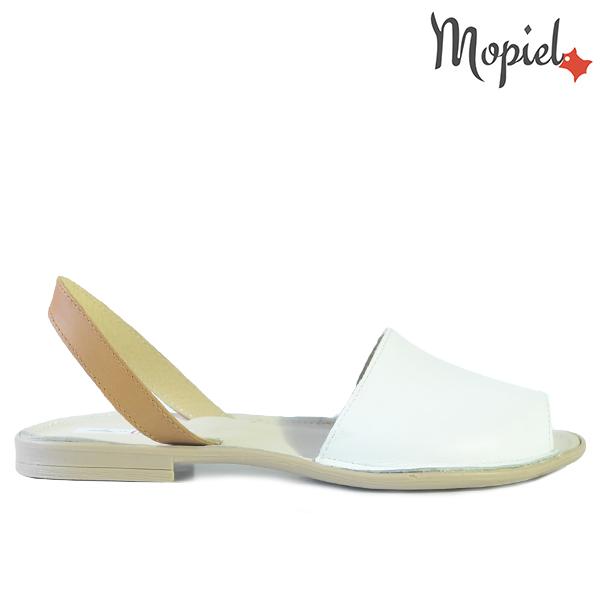 - Sandale dama din piele naturala 25801 Alb Silvia incaltaminte dama sandale incaltaminte mopiel sandale dama - LICHIDARI DE STOC