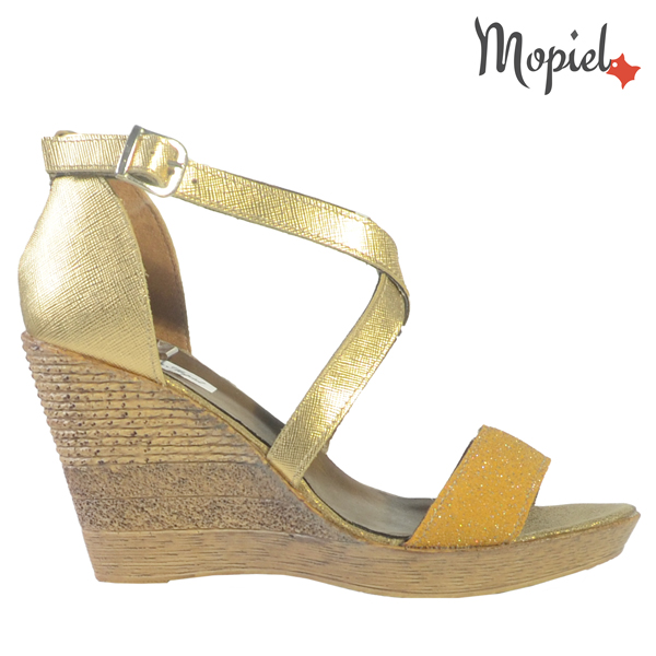 pantofi dama - Sandale dama din piele naturala 25703AuriuDaria - Pantofi dama, din piele naturala 24303/Maro/Lemon