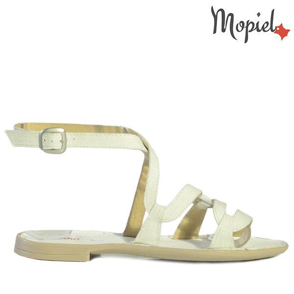 sandale dama - Sandale dama din piele naturala 25802Alb DungiSilvia incaltaminte dama sandale dama - Sandale dama din piele naturala 25802/Auriu/Silvia
