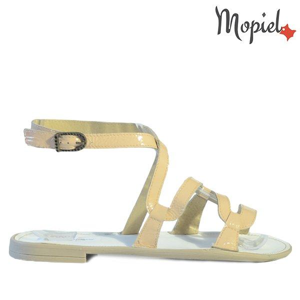 sandale dama - Sandale dama din piele naturala 25802Lac Bej Silvia incaltaminte dama sandale dama - Sandale dama din piele naturala 25802/Auriu/Silvia