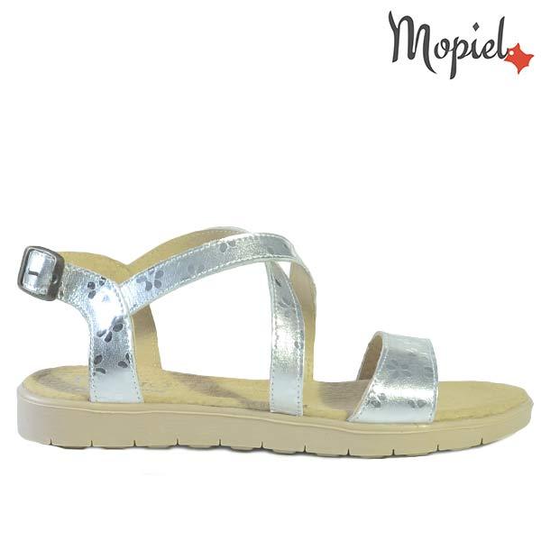 pantofi dama - Sandale dama din piele naturala 25810 Argintiu Lady incaltaminte dama sandale dama - Pantofi dama din piele naturala 240202/1500/Negru/Oana