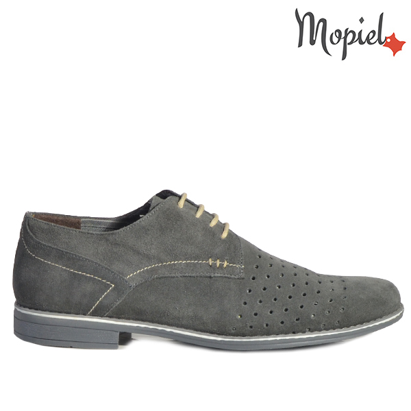 ghete dama - Pantofi barbati din piele naturala 13202 SP Gri Perforat Ezel - Ghete dama din piele naturala 21418/Negru-Argintiu/Mandy