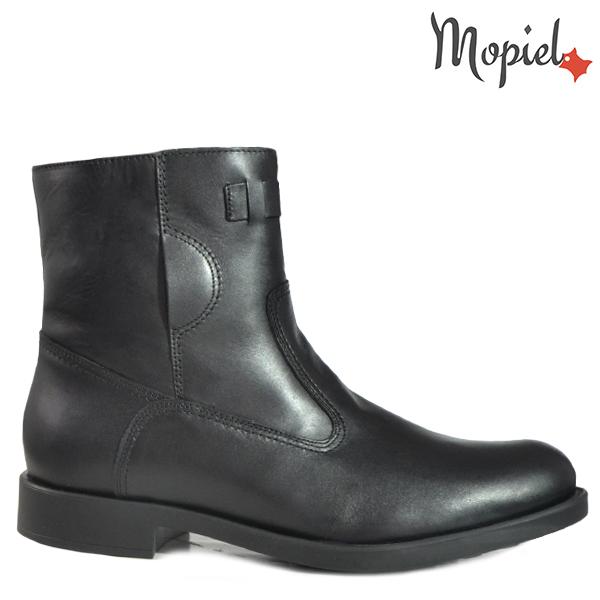 pantofi barbati - Ghete barbati din piele naturala 118504 880 Negru Carlo - Pantofi barbati, din piele 13701/Castaniu-Inchis/Frank