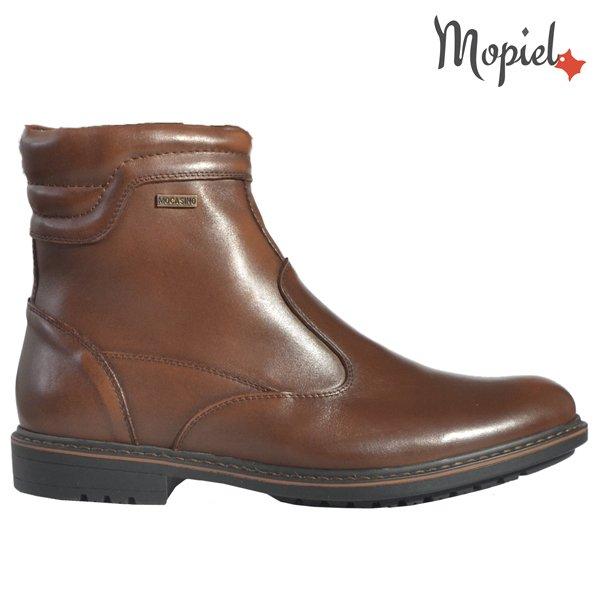 pantofi barbati - Ghete barbati din piele naturala 1189051801MaroGabriel - Pantofi barbati, din piele 13701/Castaniu-Inchis/Frank