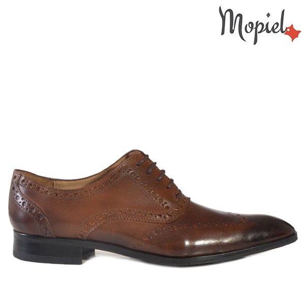 pantofi barbati - Pantofi barbati din piele 13701 Castaniu Ape Frank - Pantofi barbati, din piele 14502/Negru/Lucas