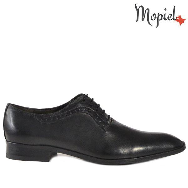 pantofi barbati - Pantofi barbati din piele 14701 Negru Frank - Pantofi barbati, din piele 13701/Castaniu-Ape/Frank