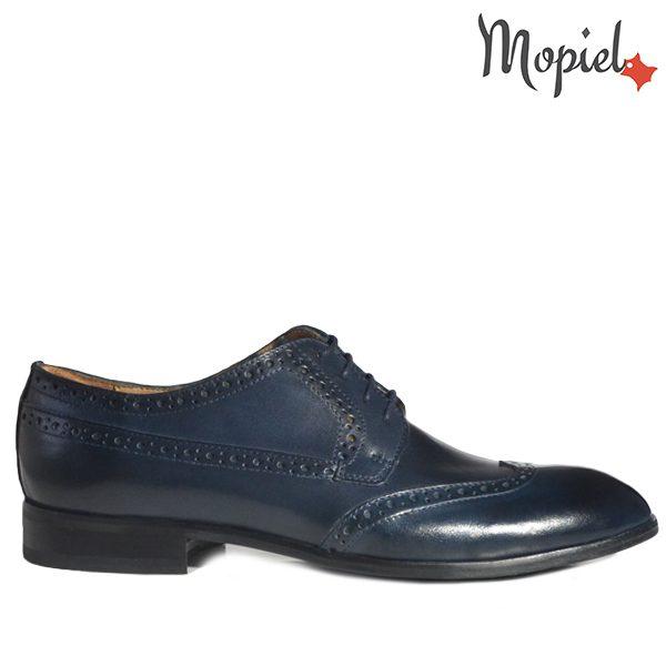 - Pantofi barbati din piele 13603 Albastru Azzuro Dirk 600x600 - Colectia Artizan