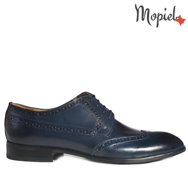 - Pantofi barbati din piele 13603 Albastru Azzuro Dirk - Colectia Artizan
