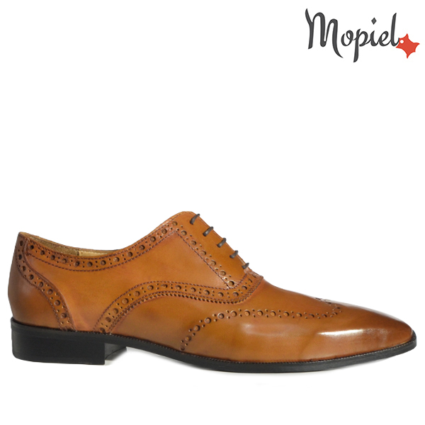 - Pantofi barbati din piele 13701 Caramiziu Ape Frank - Colectia Artizan