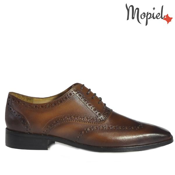- Pantofi barbati din piele 13701 Castaniu Frank - Colectia Artizan