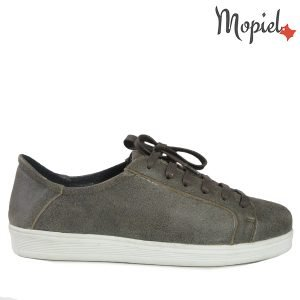 - Pantofi dama din piele naturala 23820 Gri Prisma 300x300 - PANTOFI DAMA